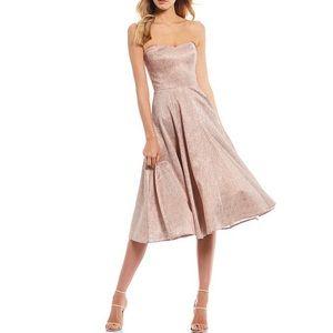 Dress the Population Vivienne Metallic ALine Dress